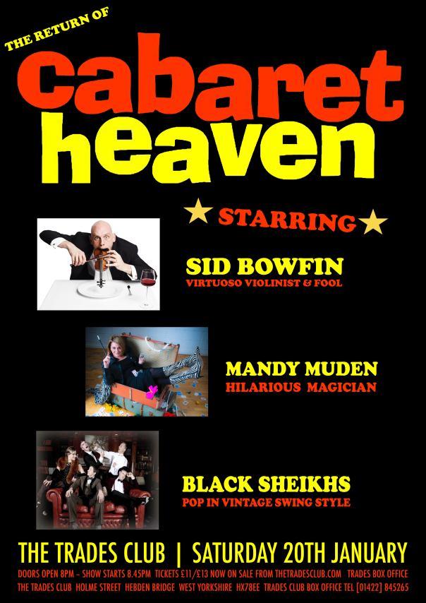 Trades cabaret poster